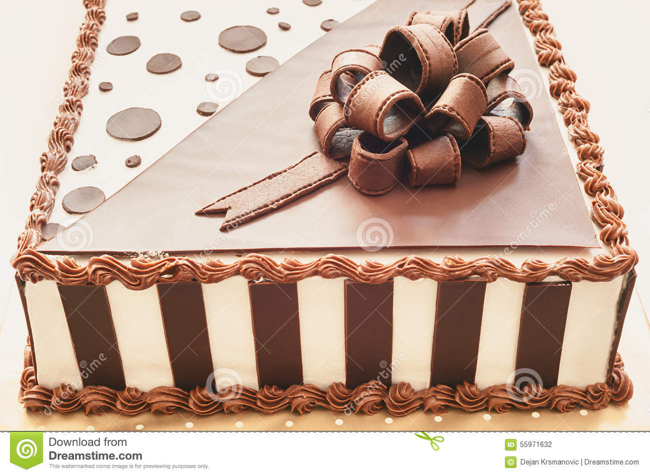 Chocolate Cake Decoration Stock Photo Image Of Homemade 55971632