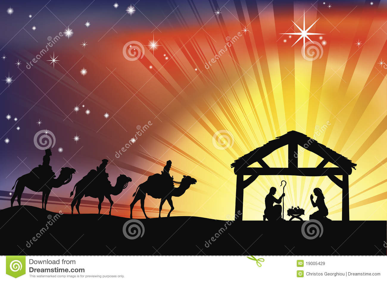 Download Wise Quotes Wallpapers Christian Christmas Nativity Scene Stock Vector