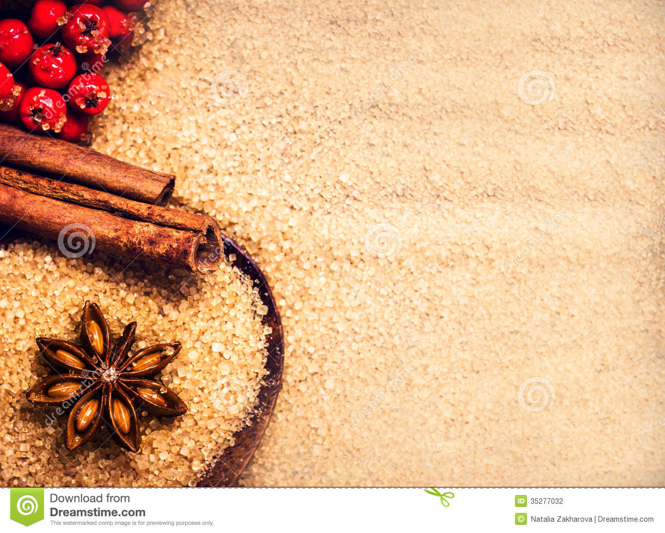 Wallpaper Natal 3d Christmas Background With Brown Sugar Anise Star And