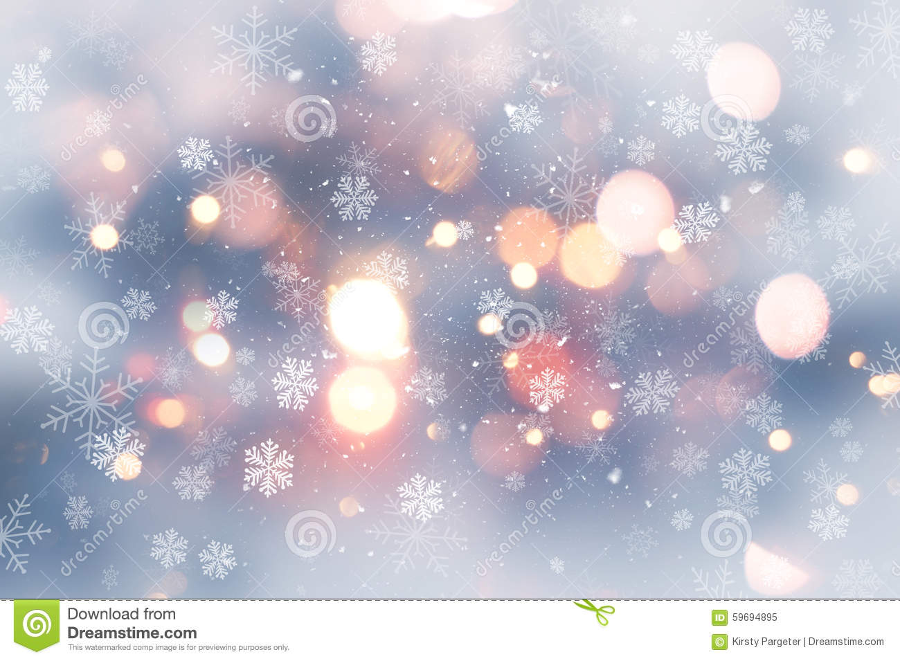 Free Snow Falling Wallpaper Christmas Background With Snow And Bokeh Lights Stock