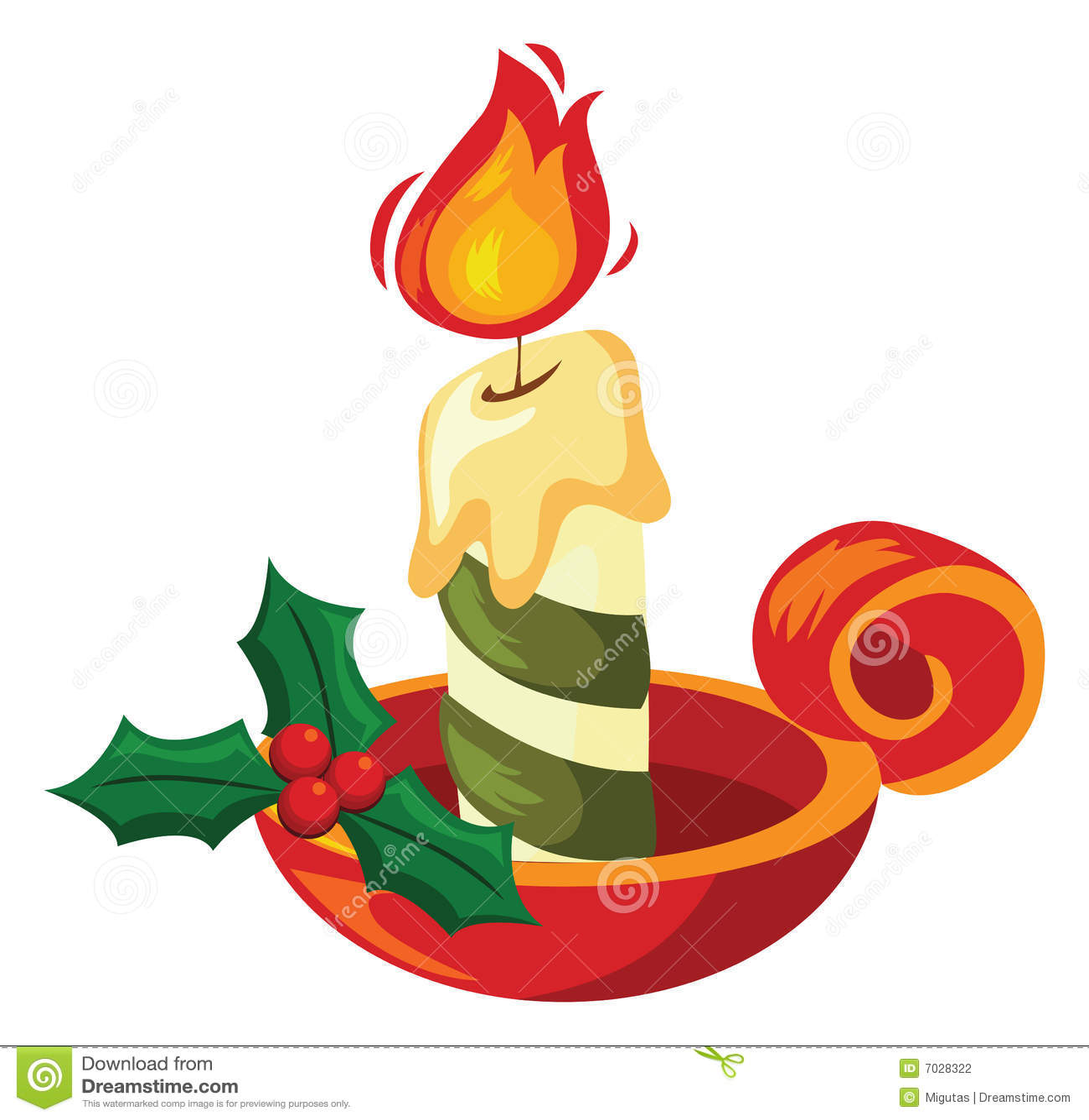 Natal Wallpaper 3d Christmas Candle Stock Photography Image 7028322