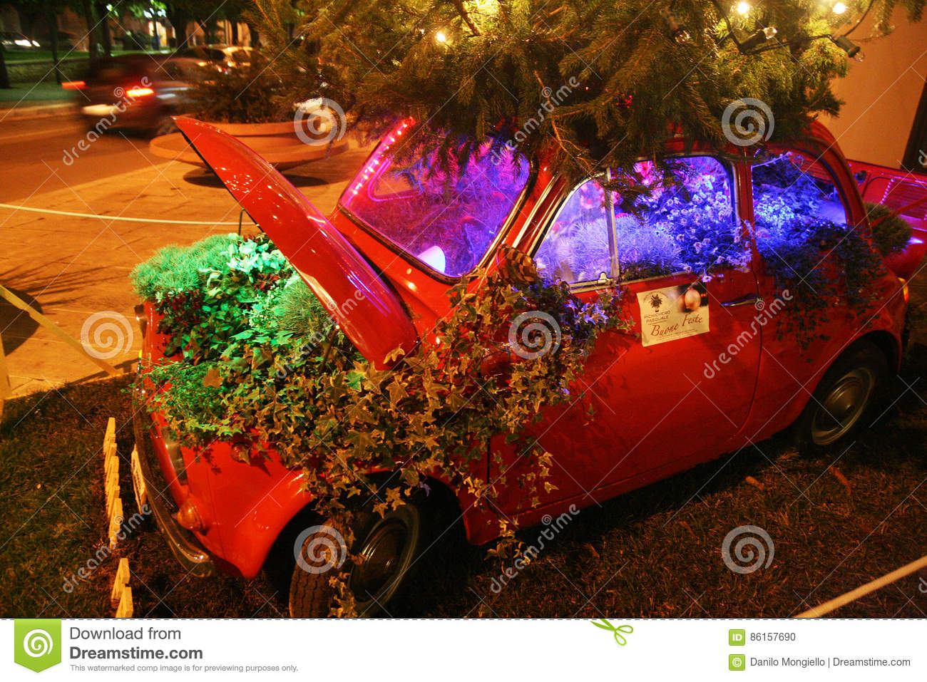 Fiat Wuppertal Christmas Car Editorial Image Image Of Delle Decorated 86157690