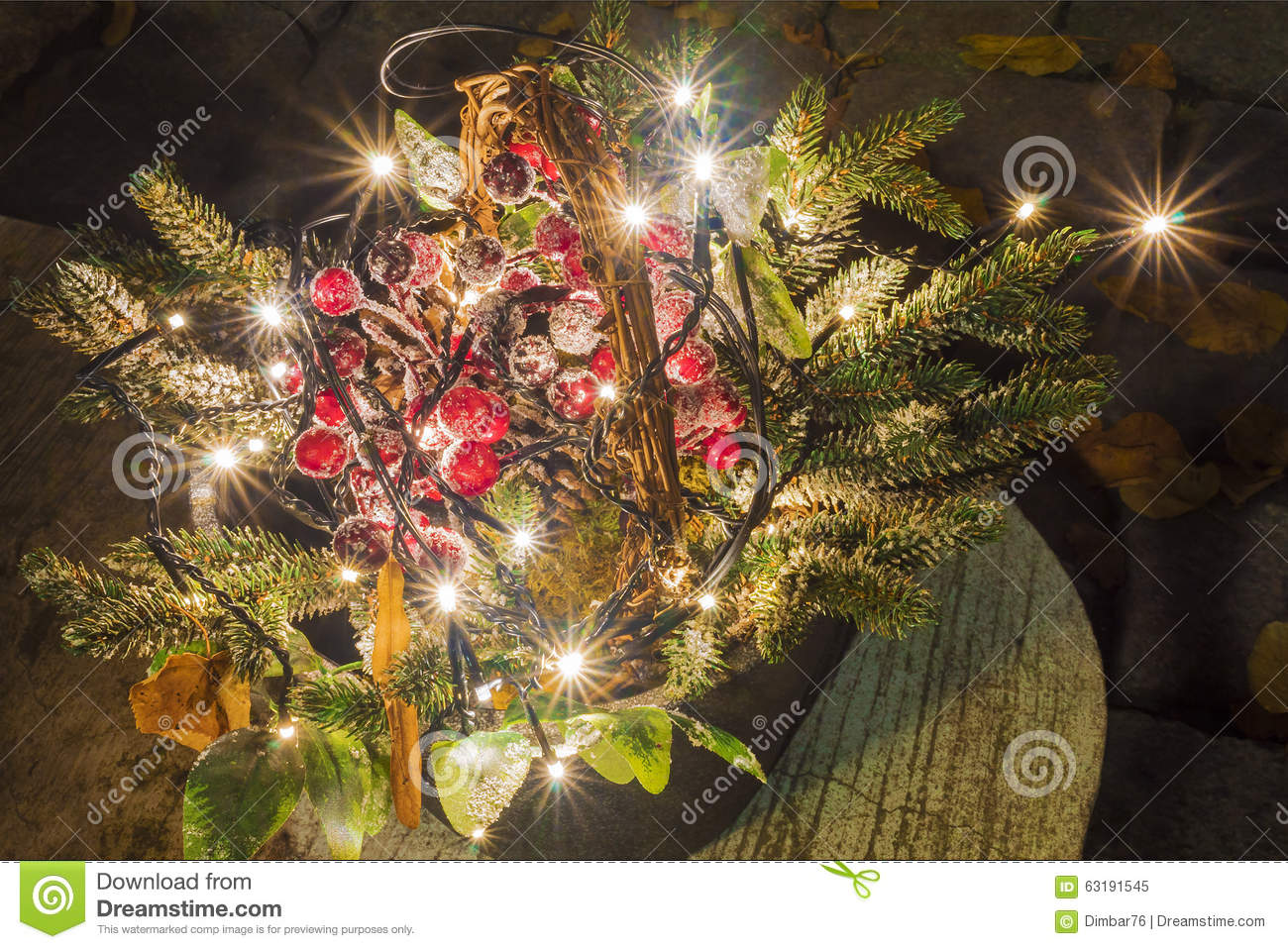 Design Dimbar Christmas Composition With Light Bulbs Street Design Of The