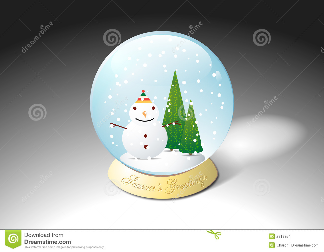 Illustration Decoration Christmas Crystal Water Snowball Stock Images - Image: 2919354
