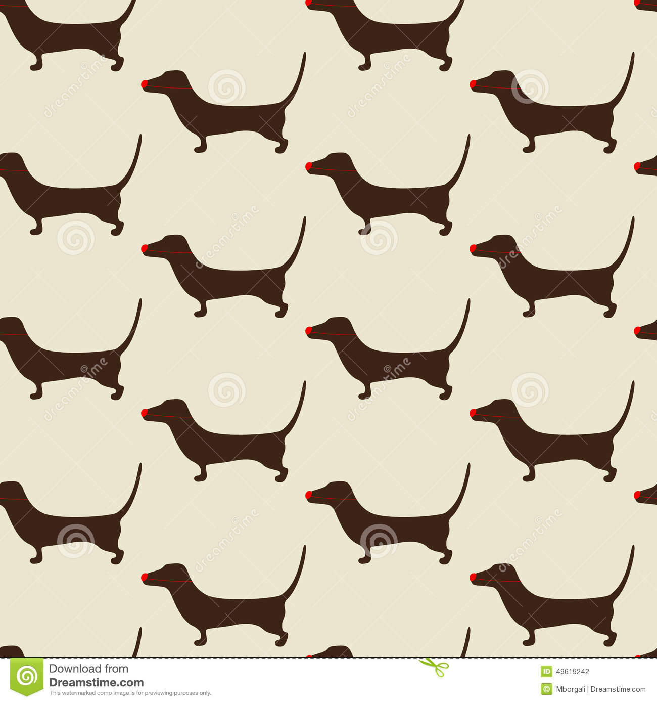 Cute Iphone Wallpaper Patterns Christmas Dachshund Pattern Stock Vector Image 49619242