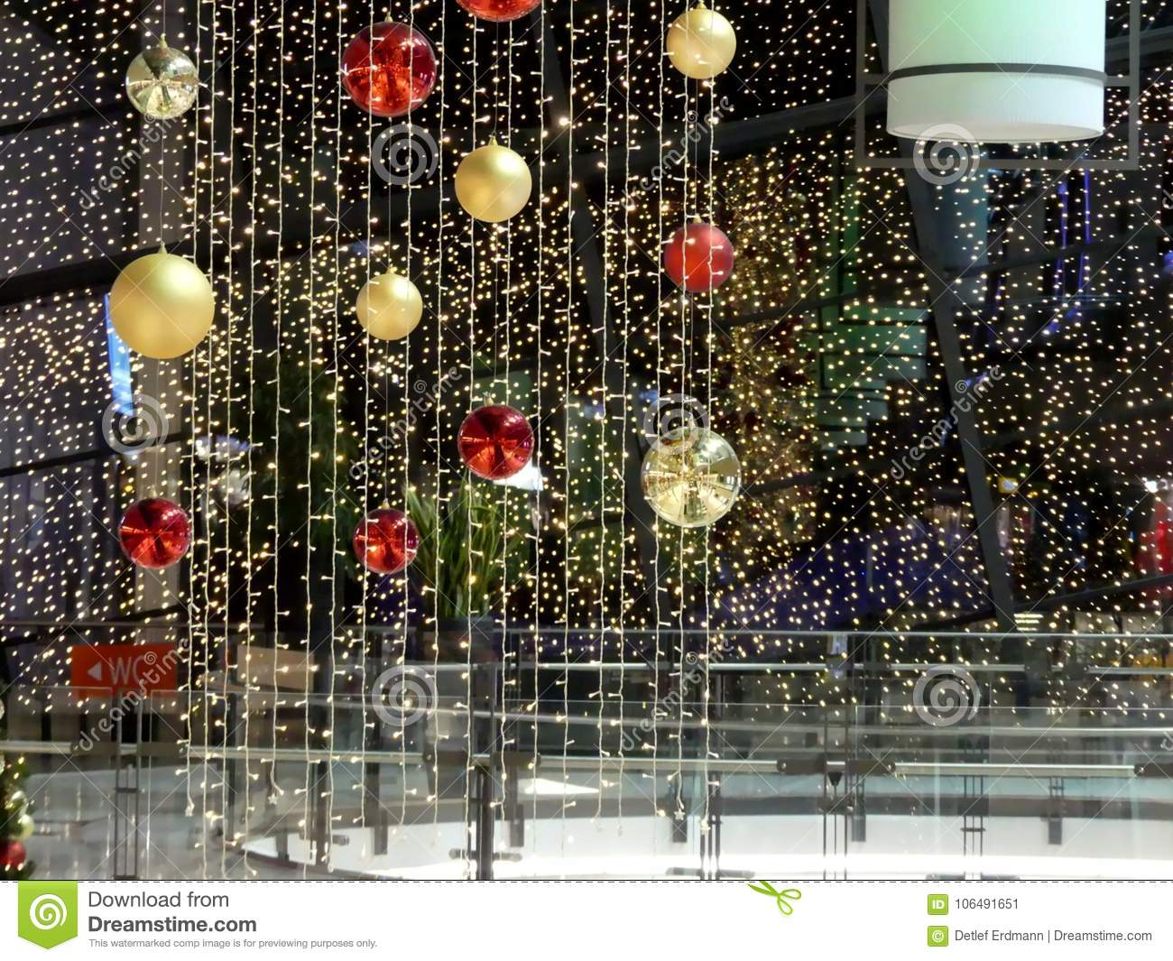 Rostock Shopping Christmas Decoration In German Shopping Center Editorial Photo