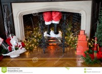 Santa Going Down Chimney Decoration.Christmas Decorations ...