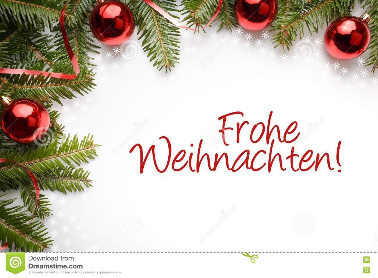 Frohe Weihnachten Christmas Decorations With The Christmas Greeting In German Frohe