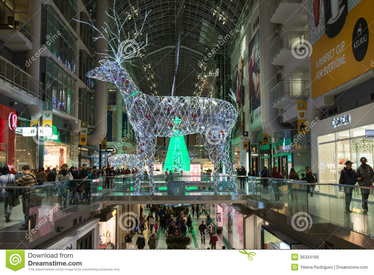 Decor Stores Toronto Christmas Decorations At Eaton Centre In Toronto Editorial
