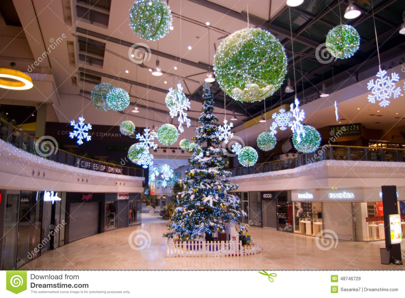 Decor Center Christmas Decorations At Mall Editorial Stock Image