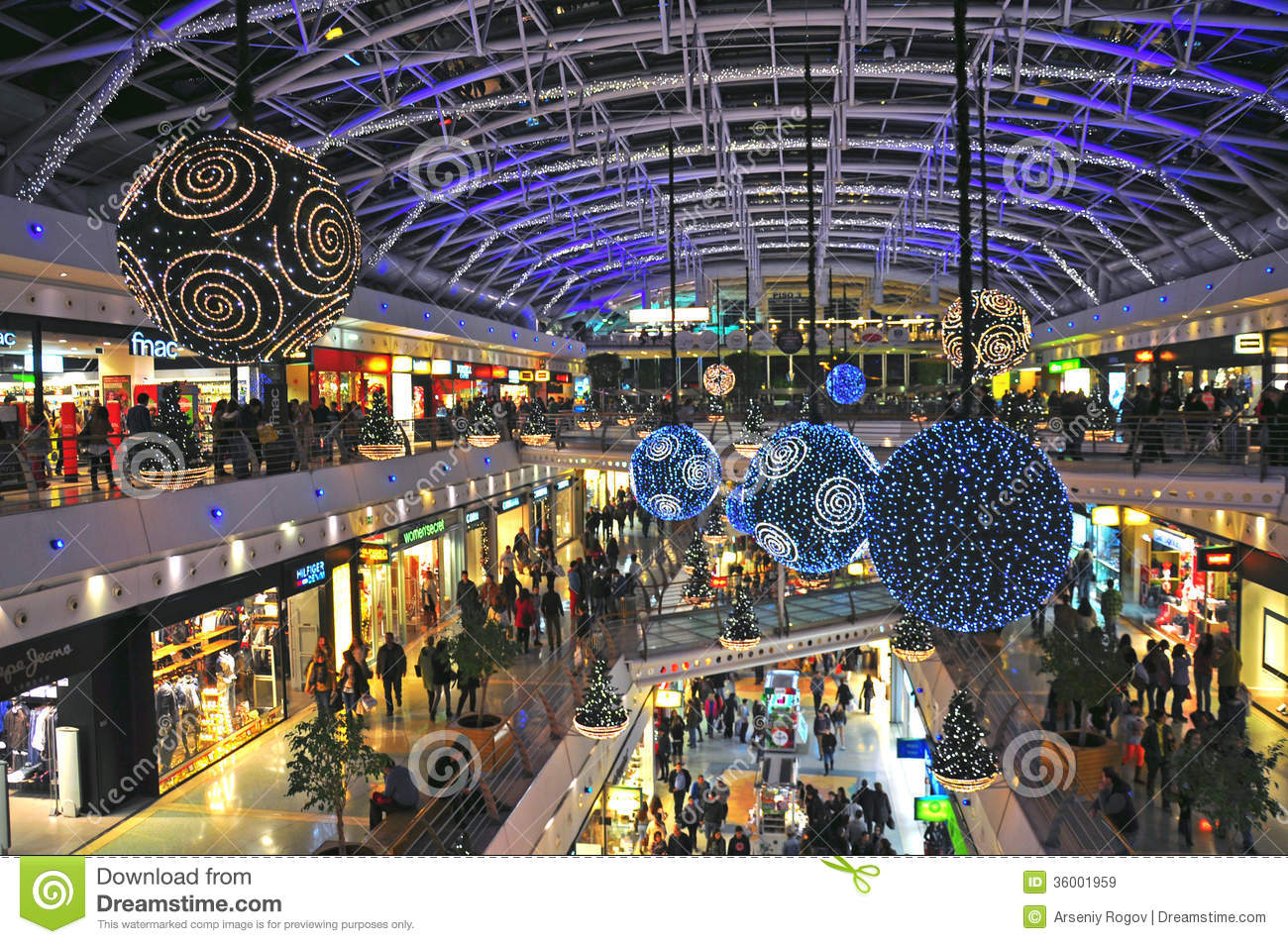 Business Plan Boutique Decoration Christmas Decorations In Shopping Centre Editorial Stock