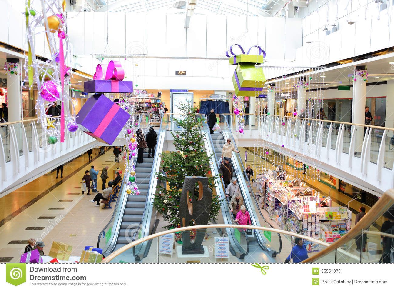 Decor Center Christmas Decorations In Shopping Mall Editorial Image