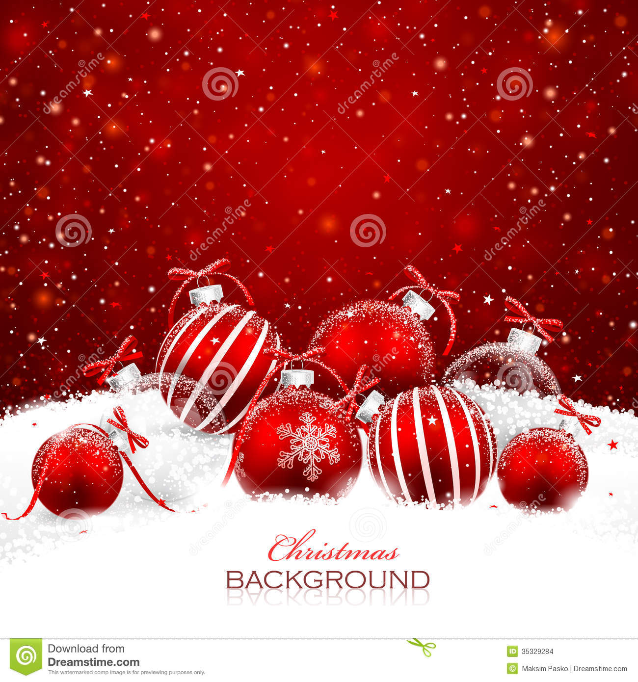 Black And Silver Wallpaper Christmas Decorations In The Snow Stock Vector Image