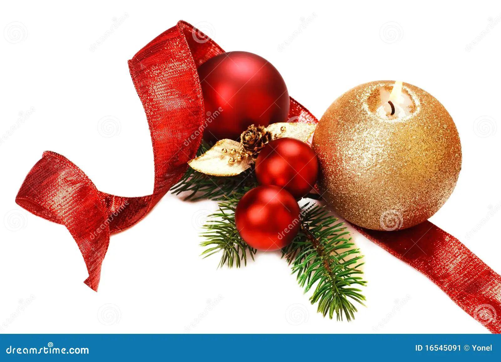 Christmas decorations on white background stock image