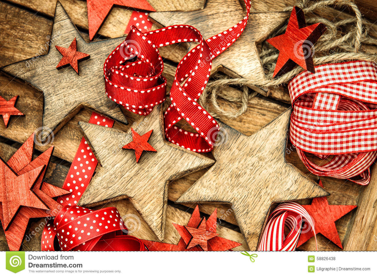 ... Christmas Decorations Gift Ornam Picture Red Retro. Download