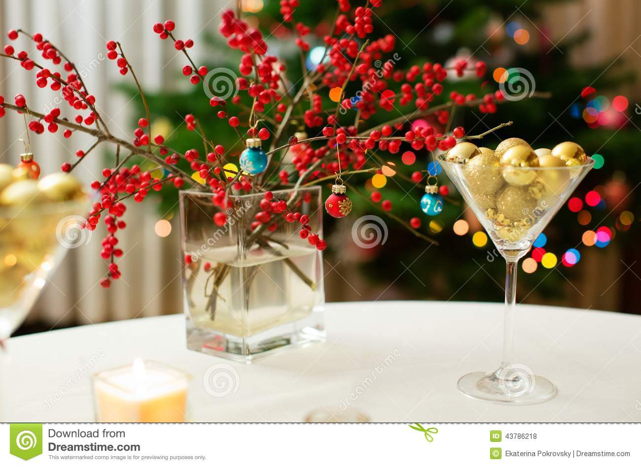 Christmas Tables Decorated Christmas Dining Table Stock Photo Image Of Decorated