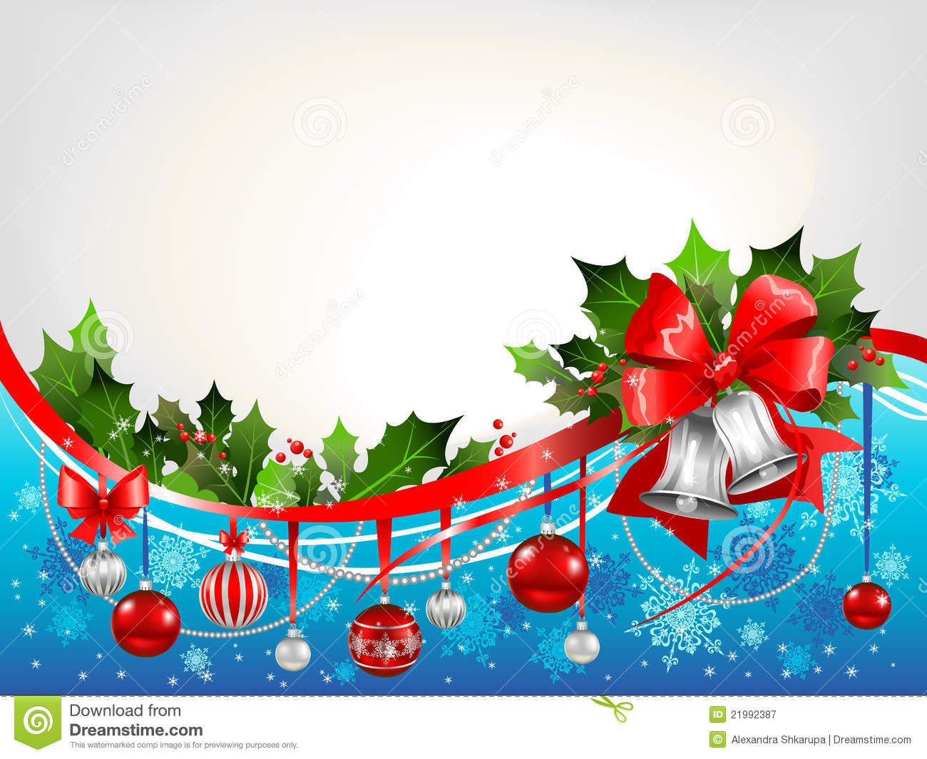 Animated Christmas Tree Wallpaper Christmas Festive Background With Silver Bells Royalty