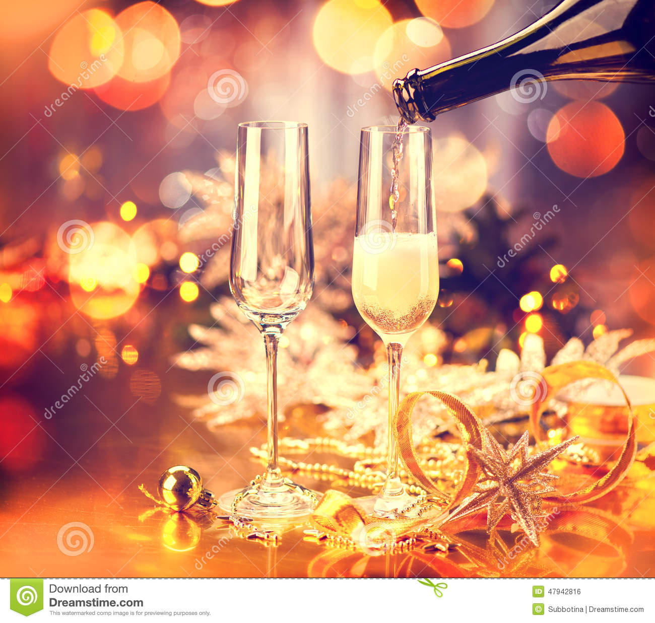 Christmas Tables Decorated Christmas Holiday Decorated Table Stock Photo Image