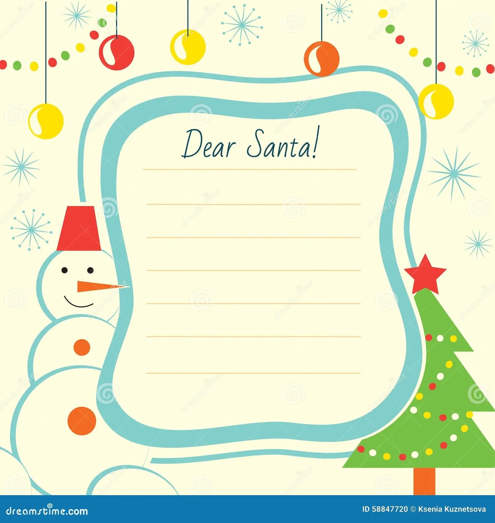 Doc8591100 Christmas List to Santa Template Free Printable – Free Christmas Letter Templates