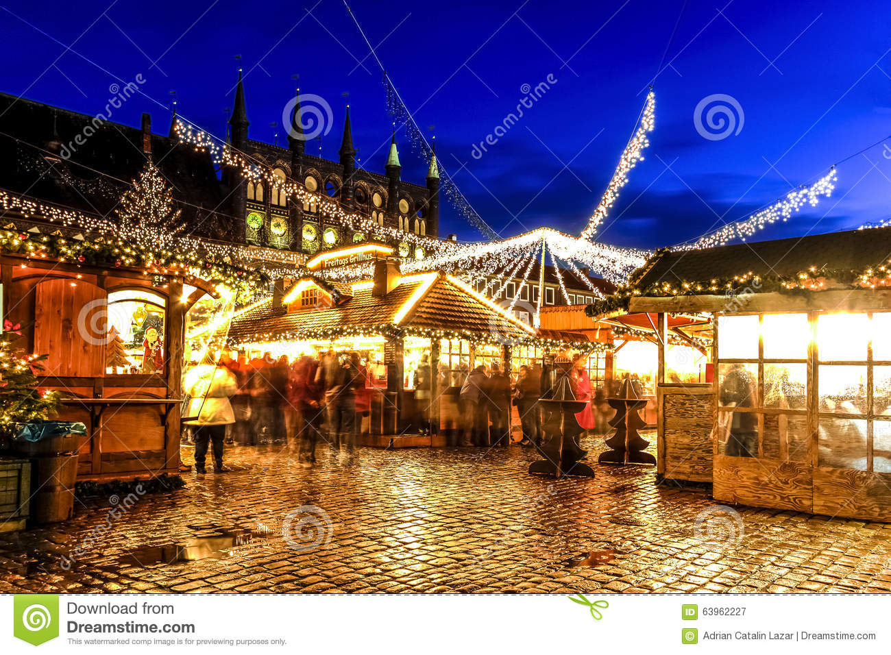Street Food Lübeck Christmas Market In Lubeck Germany Editorial Photography