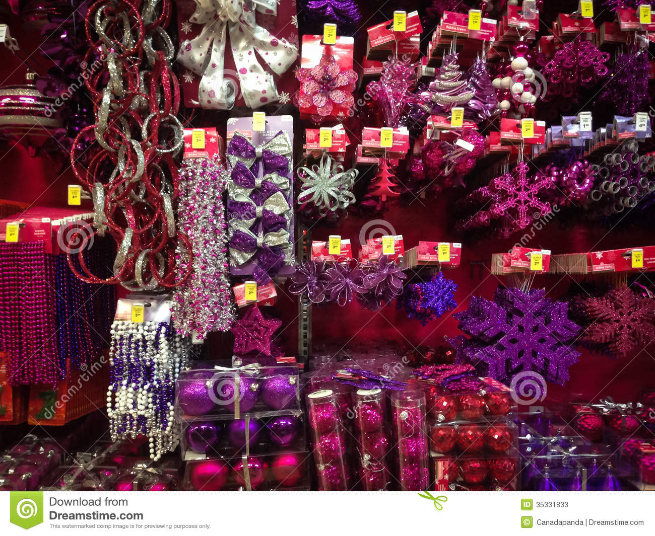 Canadian Tire Christmas Decorations Christmas Ornaments For Sale Editorial Stock Photo Image