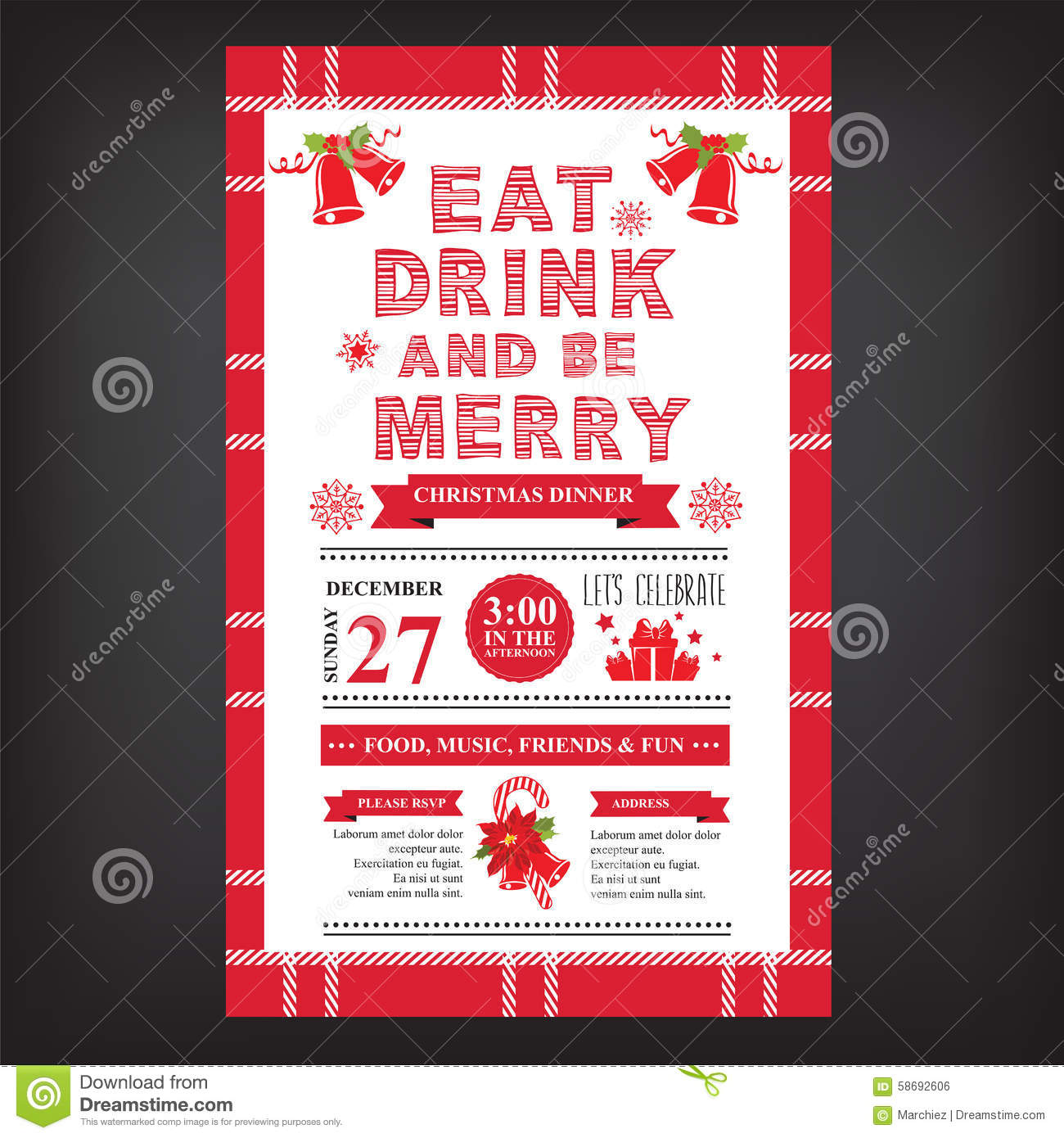 Awesome Dinner Party Menu Templates Free Download Ideas Best