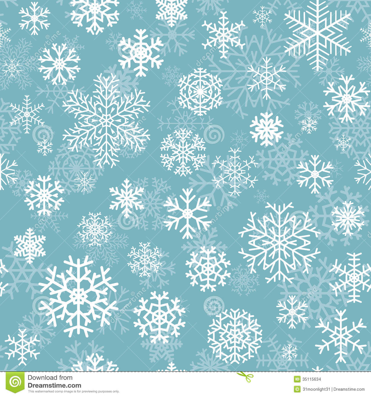 Christmas Snow Falling Wallpaper Christmas Seamless Pattern From Snowflakes Stock Vector