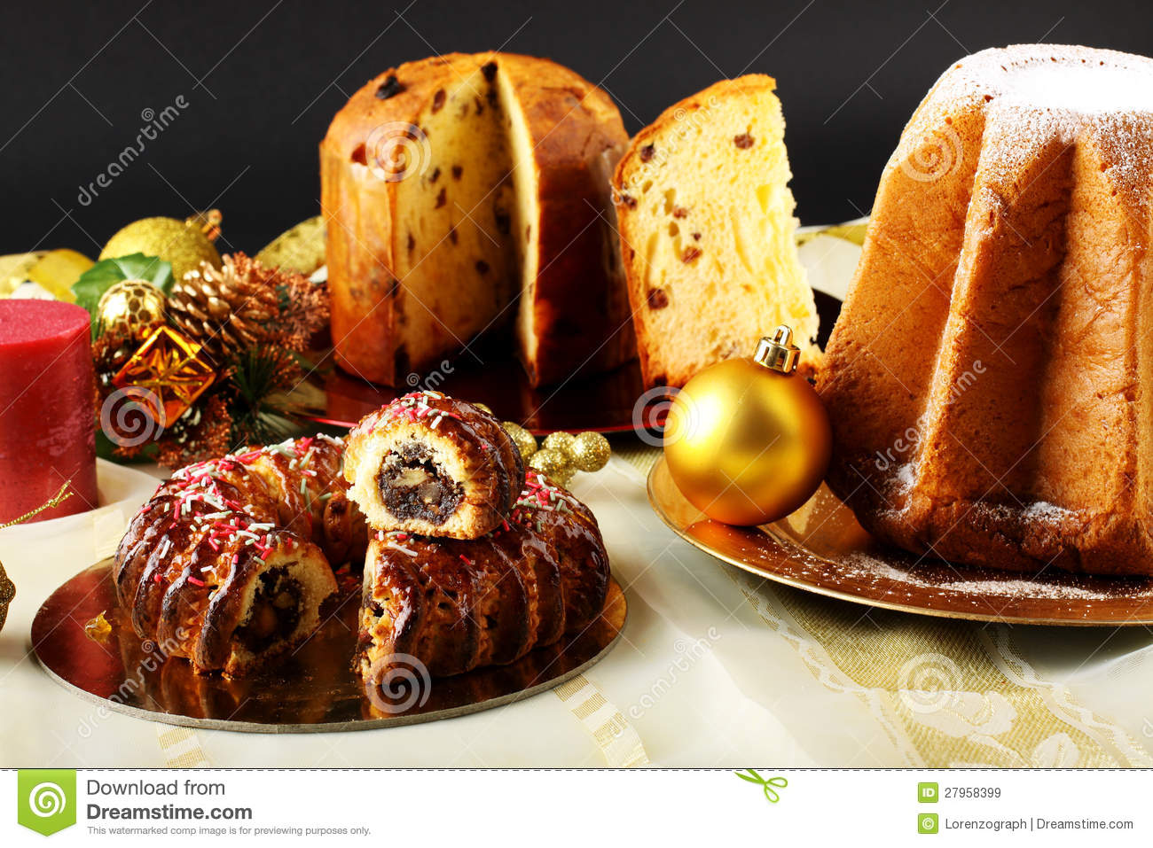 Christmas Tables Decorated Christmas Sweets Decorated Table Stock Images 2 427 Photos