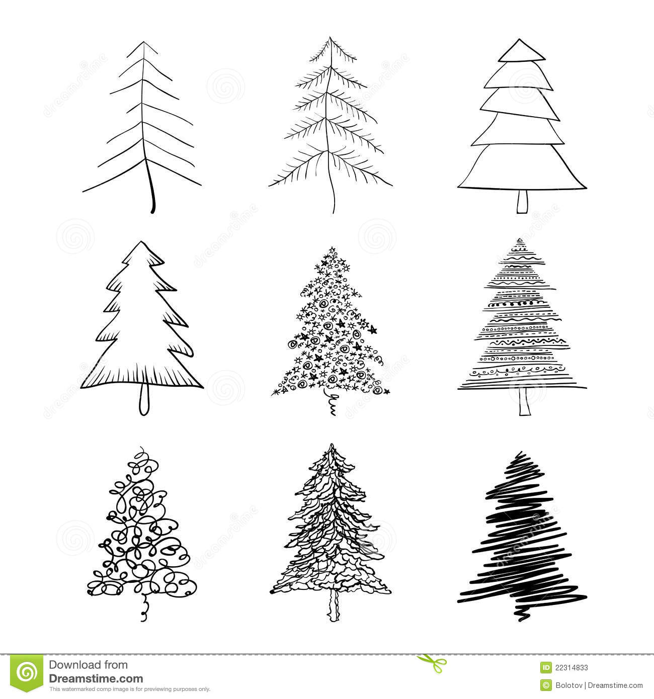 vector christmas tree royalty free stock image