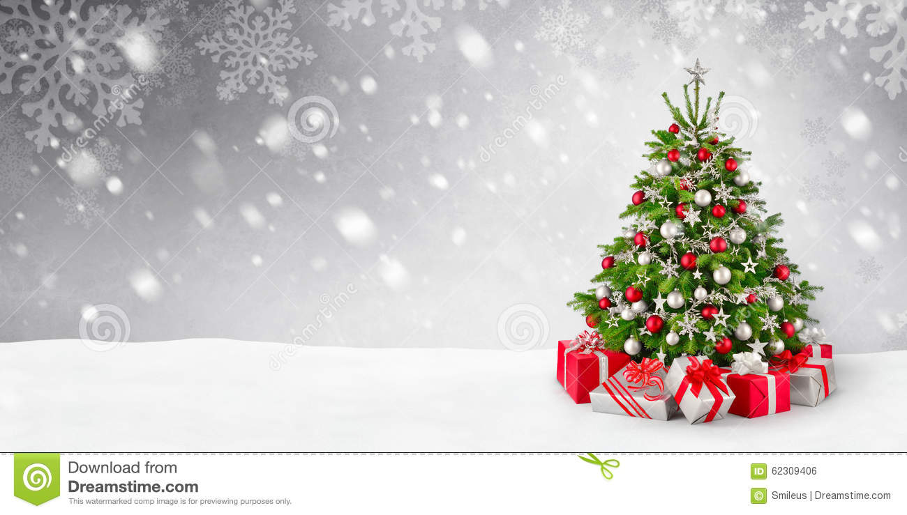 Free 3d Snow Falling Wallpaper Christmas Tree And Snow Background Stock Photo Image Of