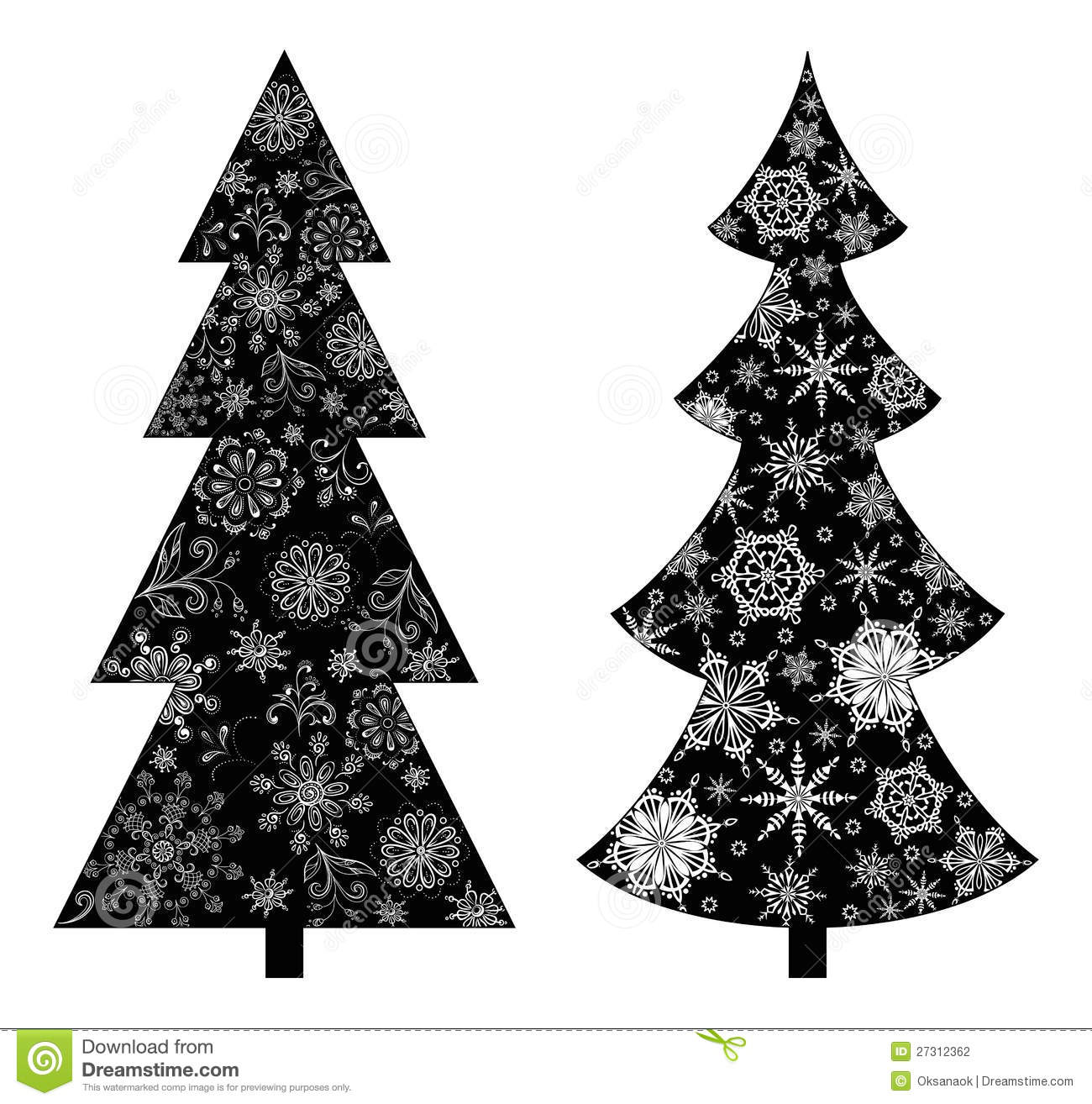 Schwarz Xl Christmas Trees, Silhouette Stock Vector - Image: 27312362