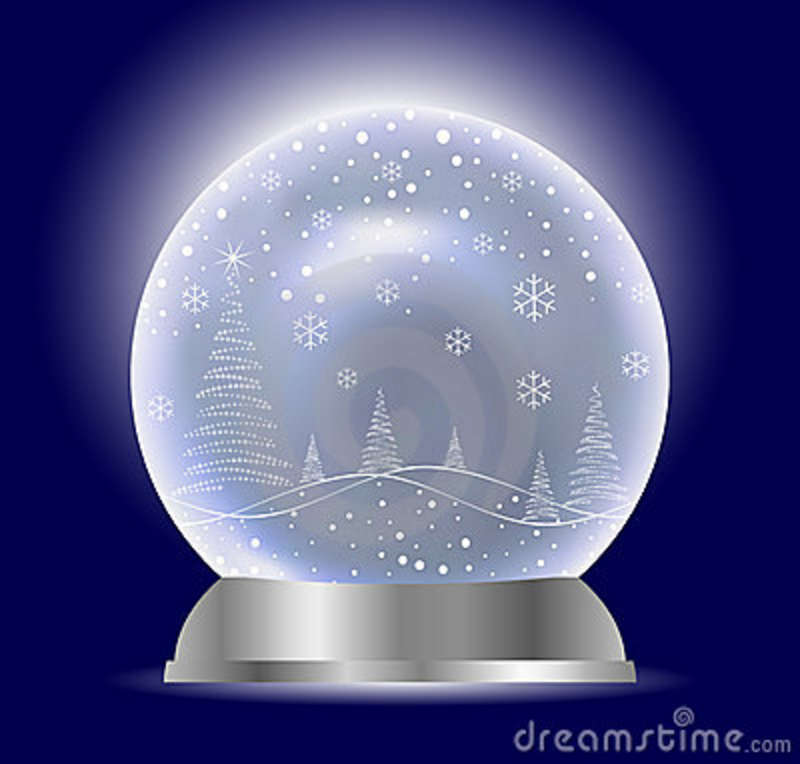 Free Xmas Wallpapers Animated Christmas Vector Snow Globe Stock Vector Illustration Of