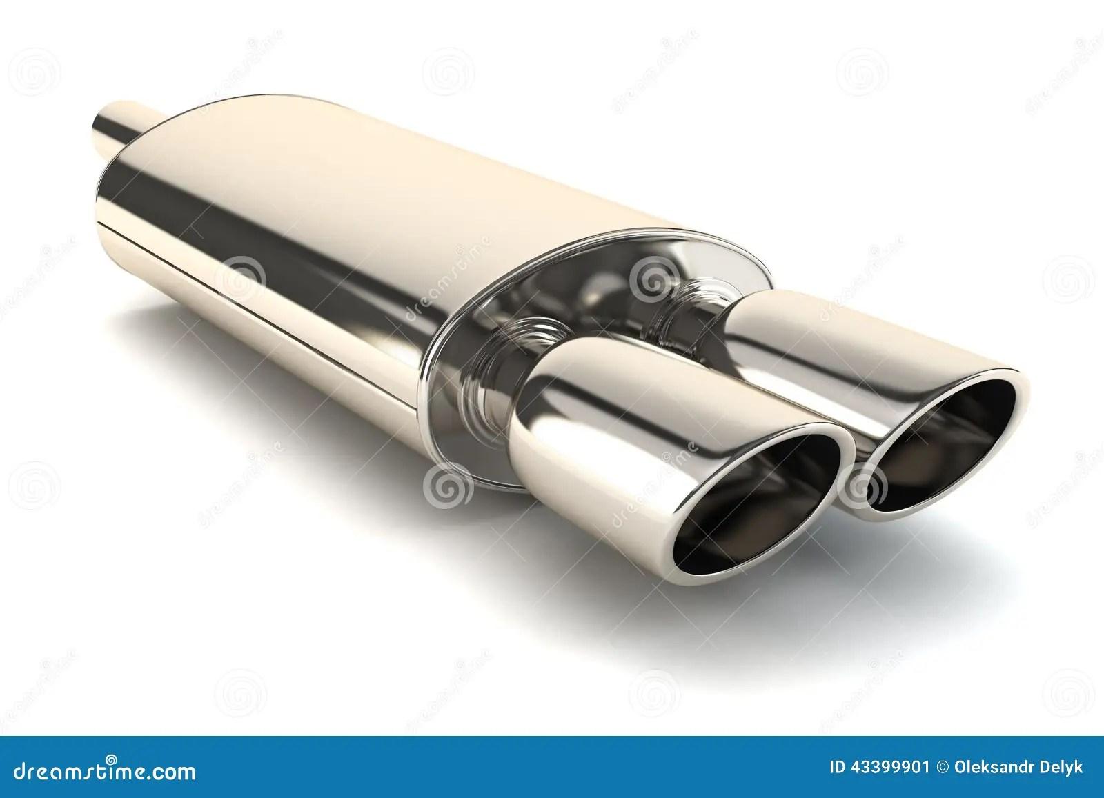 Chrome Exhaust Pipe Stock Illustration