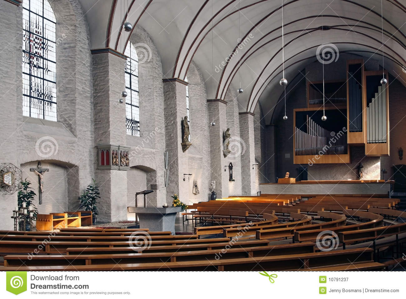 Interieur Design Geschiedenis Church Interior Monschau Germany Royalty Free Stock