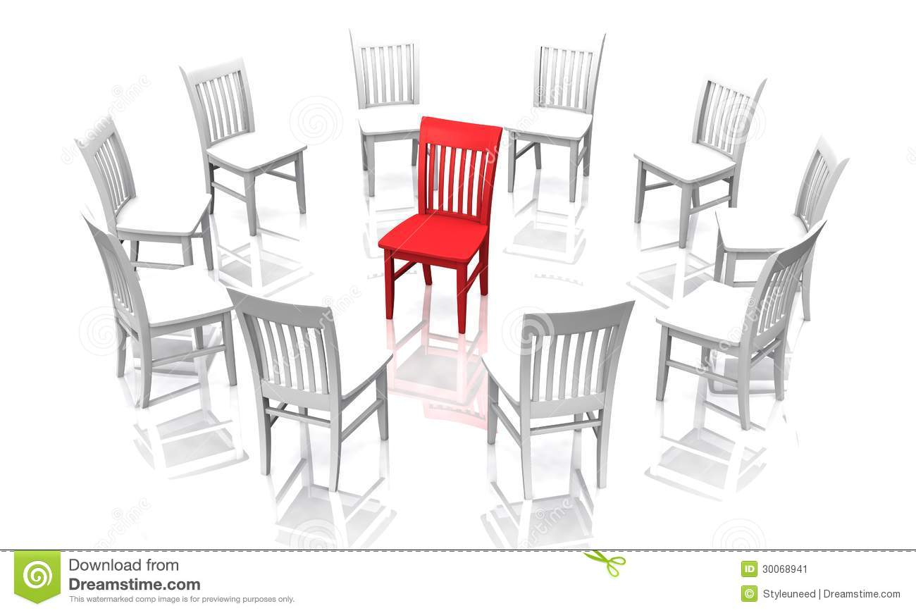 Circle Chaise Chairs In A Circle Stock Image Cartoondealer 31007221