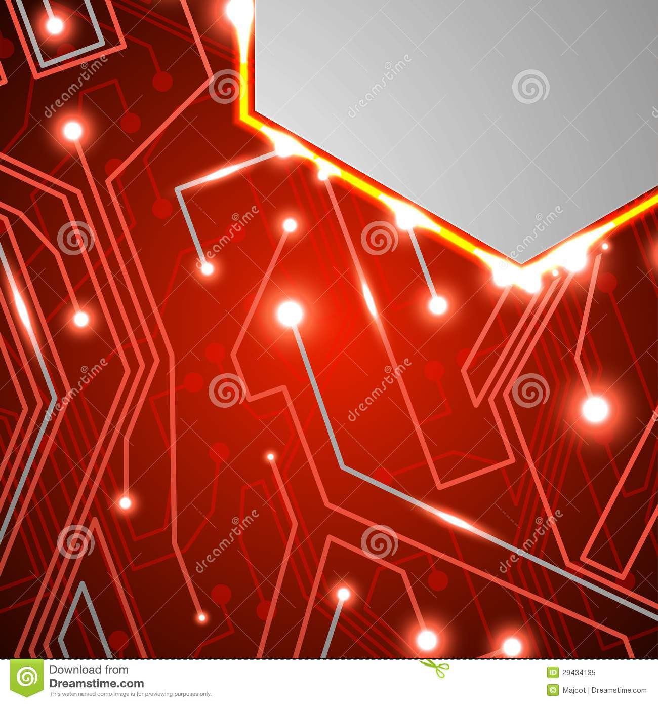 Circuit Board On Black Background Royalty Free Stock Auto Image 24974606 Photo