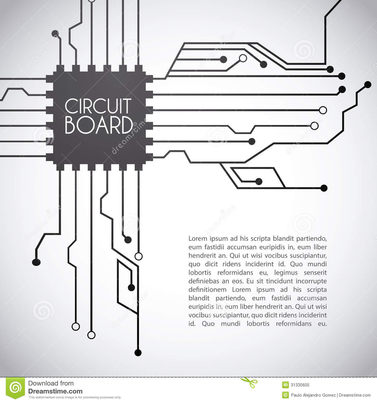 Circuit Board Design Stock Vector Illustration Of Auto Electrical Background Royalty Free Image 24974606 Photo
