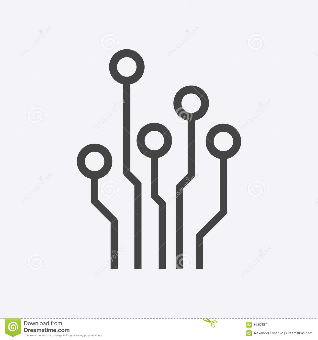Speaker Symbol Circuit Circuit Board Icon Stock Vector Image Of Electronics
