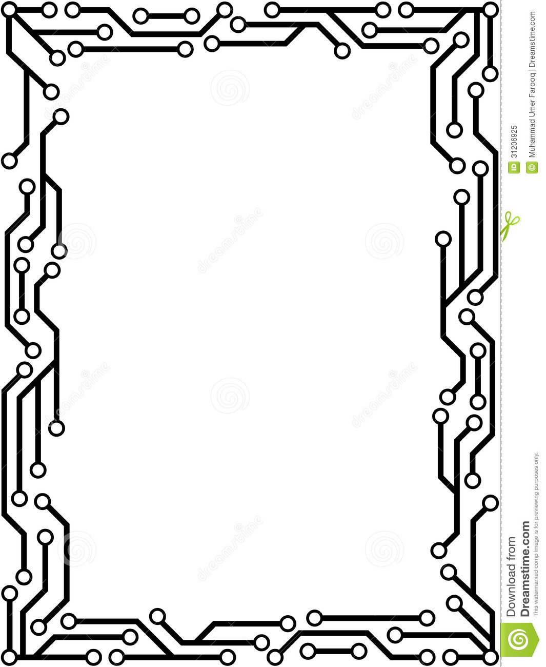 circuit board with electronic components royalty stock images