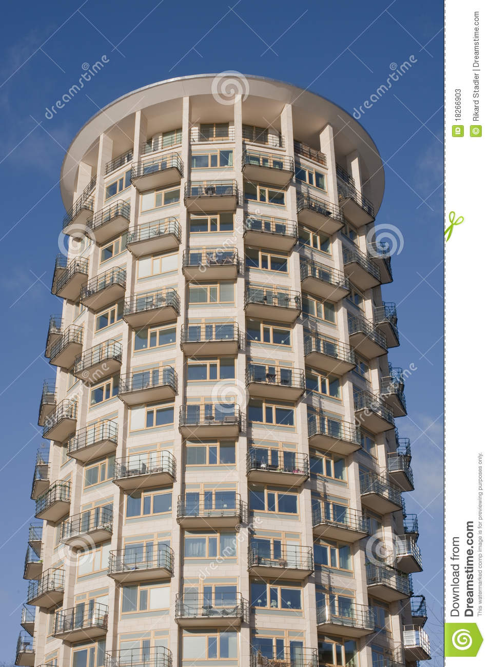 Plans For Building A New House Circular Apartment House Stock Image. Image Of Building