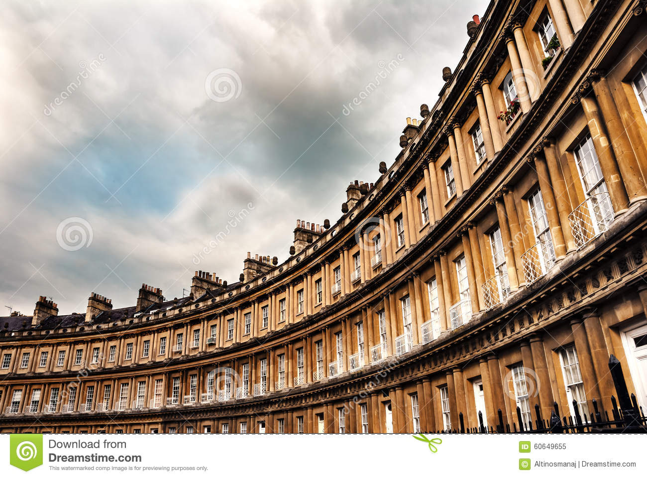 3d Animation Pc Wallpaper The Circus Famous Circular Royal Crescent Building In