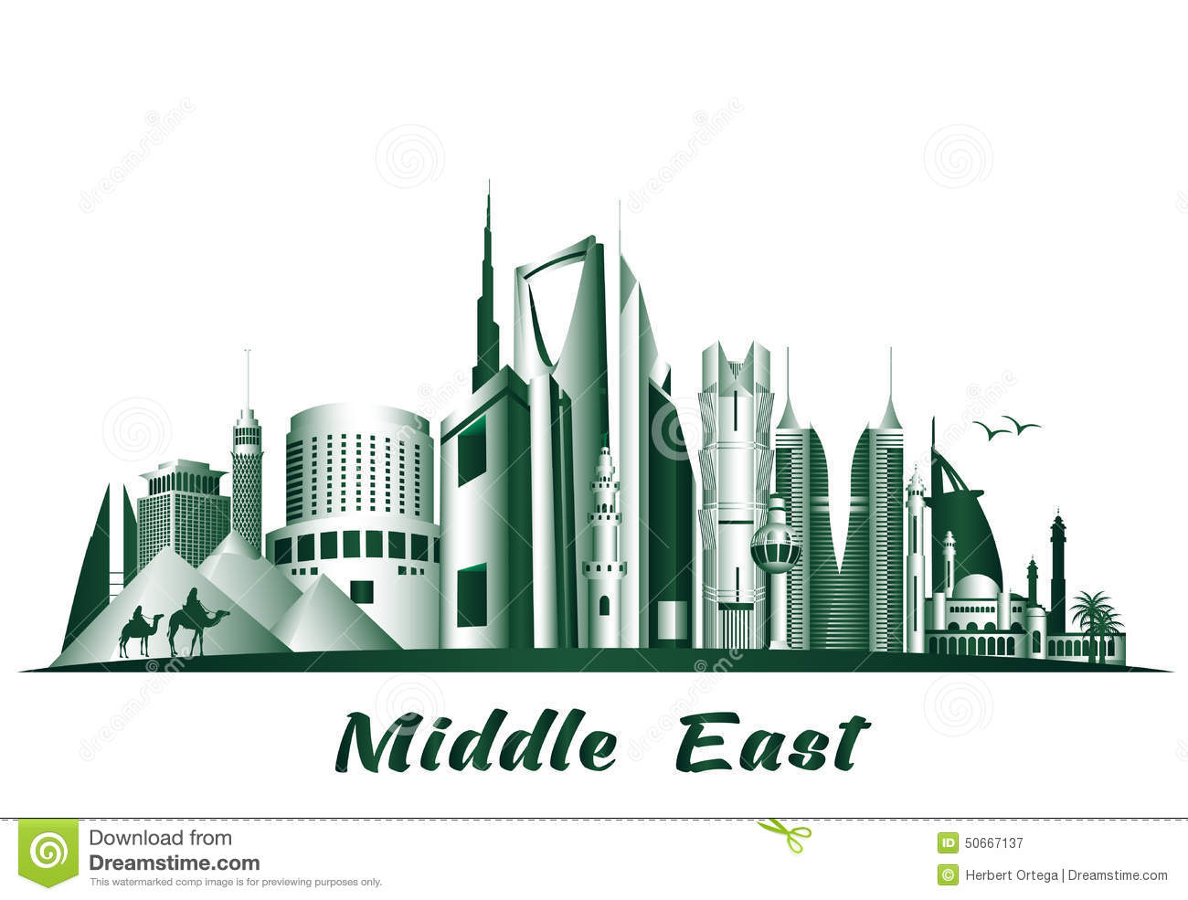 L Love You Wallpaper 3d Cities And Famous Buildings In Middle East Stock Vector