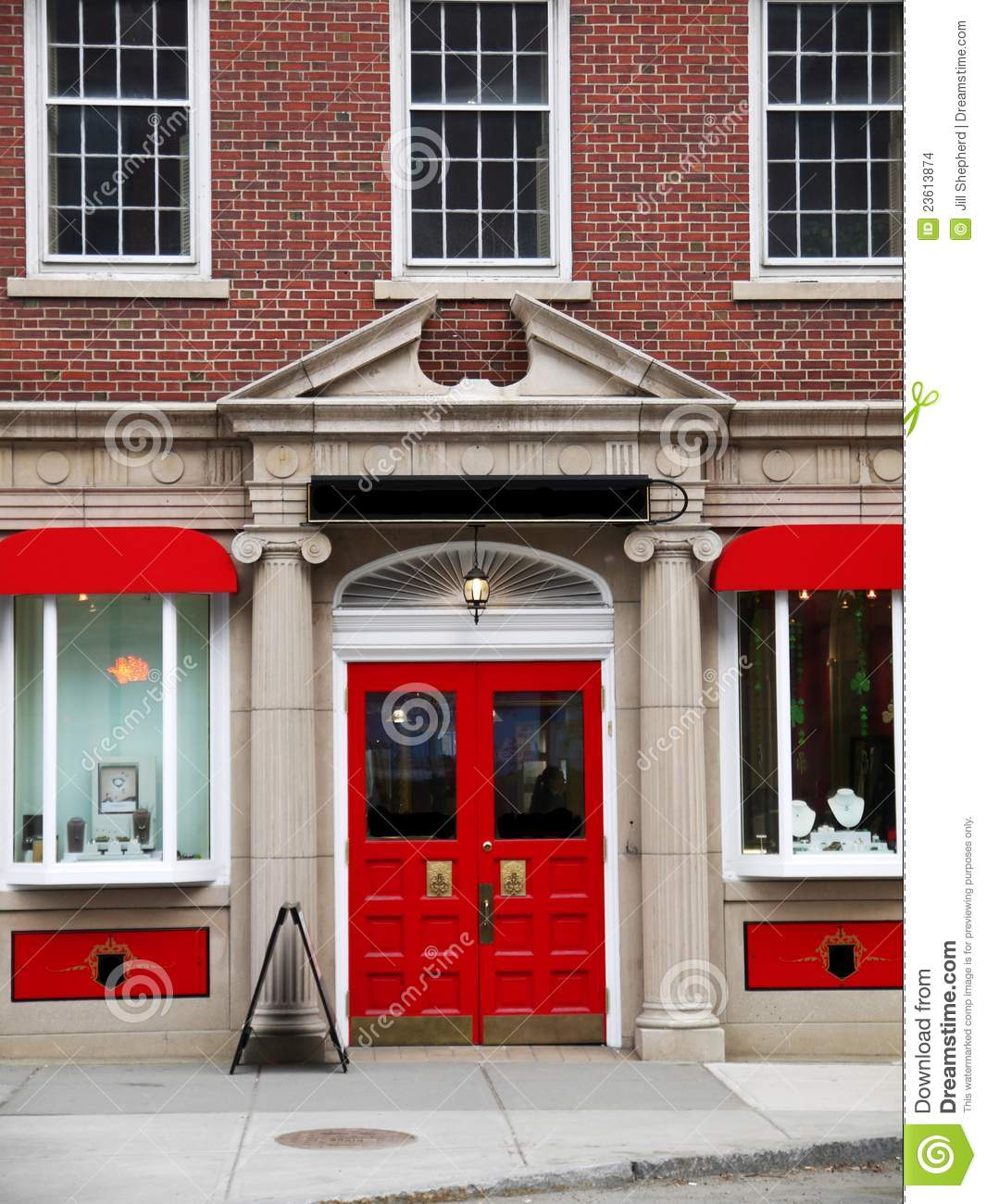 Expensive Front Doors City: Elegant Red Store Front Stock Images - Image: 23613874