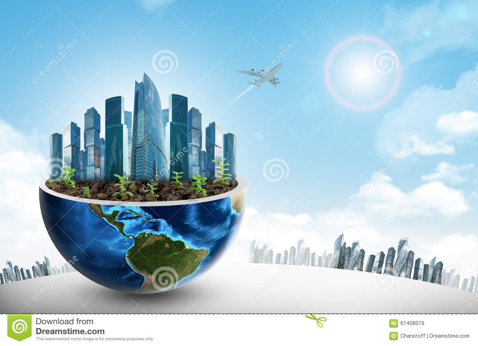 Islamic Wallpaper Hd Download Full City In Half Earth Stock Image Image Of Earth Modern