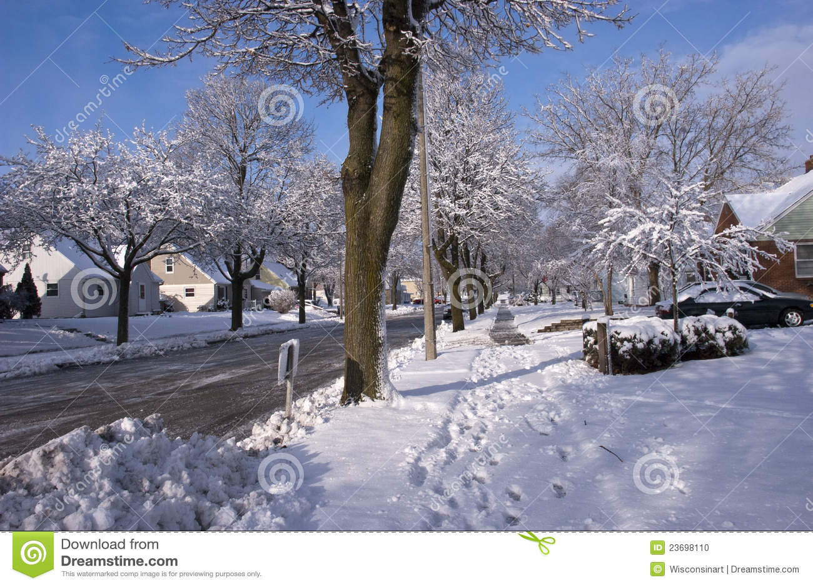 Free Fall Season Wallpapers City In Winter Houses Homes Neighborhood Snow Stock