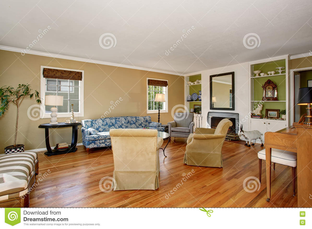 American Classic Living Room Design Classic American Living Room Interior Beige And Green