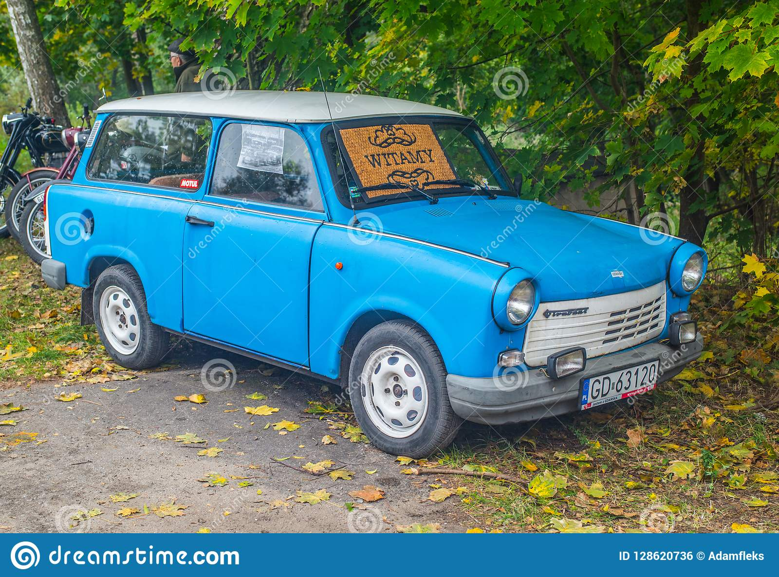 Trabant Clipart Classic East German Trabant Blue Car Editorial Photo Image Of