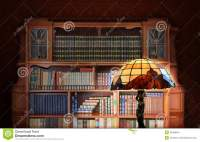 Classic Library. Antique Furniture Stock Photo - Image ...