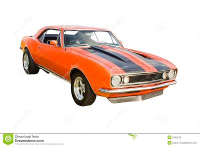 Classic Orange Muscle Car Stock Images - Image: 9149214