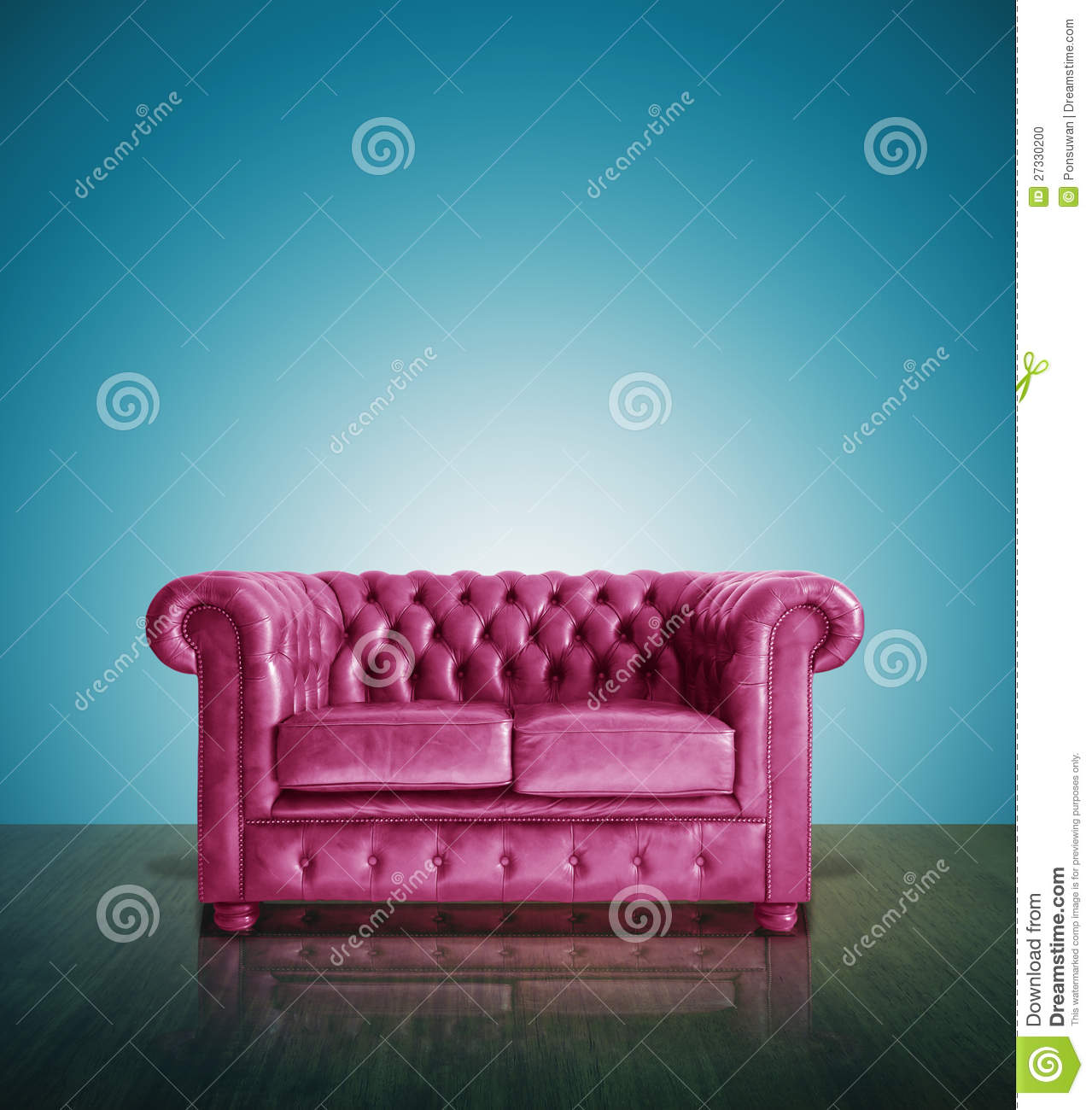 Classic Pink Leather Sofa Stock Photo Image 27330200